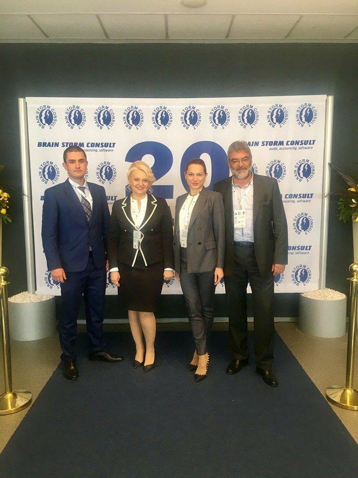 Представителите на ЕЛПРОМ Троян заедно с д-р Камелия Терзийска