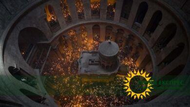 Photo of Благодатният огън слезе в църквата   на Божи гроб